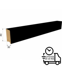 Dekoračná stenová lamela RIVIERA - Čierna