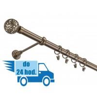 25mm Jednoradová garniža GUĽA RETRO - zlatý antik