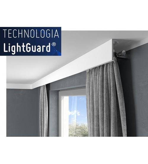 Garnižová stropná lišta MARDOM QL026 - vhodná pre LED podsvietenie