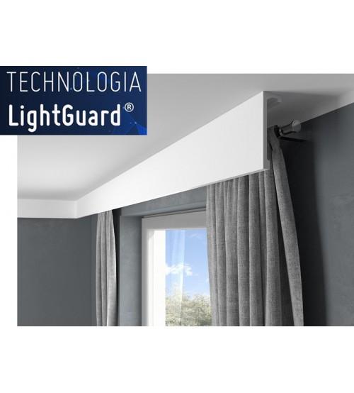 Garnižová stropná lišta MARDOM QL036 - vhodná pre LED podsvietenie