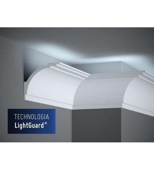 Garnižová stropná lišta MARDOM MD105 - vhodná pre LED podsvietenie