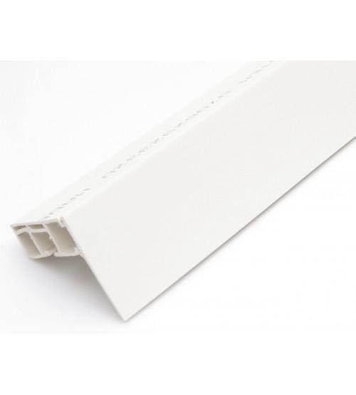 Predná lišta na stropné koľajnice - biela