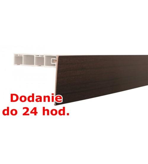 Predná lišta na stropné koľajnice KM - mahagón